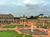 Het paleis van Zwinger in Dresden Stock Foto