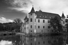 Het Paleis Wolfersdorf van het water Stock Foto