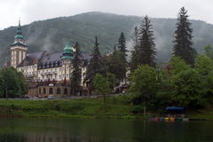 Het paleishotel in de Bukk-bergen in Lillafured, Miskolc, H Stock Foto's