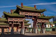 Het paleismuseum van Bogdkhaan in Ulaanbaatar, Mongoli? stock fotografie