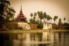 Het Paleismuur van Mandalay stock afbeelding