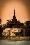 Het Paleismuur van Mandalay stock foto