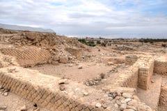 Het paleisruïnes van koningsherod stock fotografie