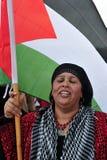 Het Palestijnse Protesteren van Mensen Royalty-vrije Stock Afbeelding