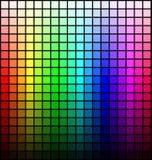 Het palet, de tint en de helderheid van het kleurenspectrum, op zwarte achtergrond Vector royalty-vrije illustratie