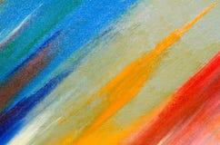 Het palet van blauw op het canvas royalty-vrije illustratie
