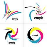 Het palet van Cmyk stock illustratie