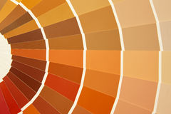 Het palet van de kaartkleur in warme tonen Geeloranje bruin royalty-vrije stock afbeelding