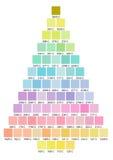 Het palet van de kerstboomkleur vector illustratie