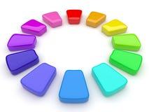 Het palet van de kleur in de vorm van een cirkel. 3d Royalty-vrije Stock Foto