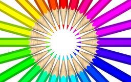 Het palet van de kleur van kleurpotloden Royalty-vrije Stock Foto's