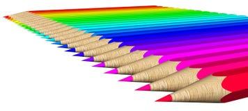Het palet van de kleur van kleurpotloden Stock Afbeelding