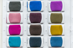 Het palet van de kleurensteekproeven van de stof Royalty-vrije Stock Afbeelding