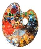 Het Palet van de kunstenaar stock afbeeldingen