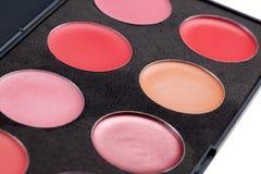 Het palet van de lippenstift royalty-vrije stock afbeelding
