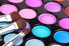 Het palet van de make-up Royalty-vrije Stock Afbeeldingen