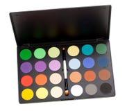 Het palet van de make-up Stock Afbeeldingen