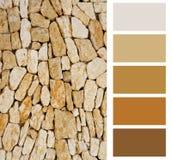 Het palet van de steenkleur royalty-vrije stock afbeelding