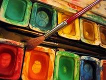 Het Palet van de verf Stock Foto