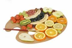 Het palet van het fruit stock fotografie