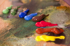 Het palet van kleuren Stock Foto