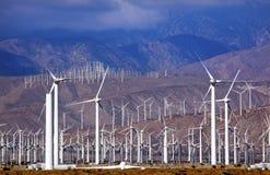 Het Palm Springs Californië van de Turbines van de wind Stock Afbeeldingen