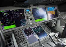 Het paneel van de cockpitvertoning Royalty-vrije Stock Foto's