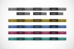 Het paneel van de navigatie, Webknopen Royalty-vrije Stock Afbeeldingen