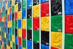 Het paneel van Handprint - Zijaanzicht Stock Afbeelding