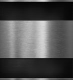 Het paneel van het aluminiummetaal over zwarte 3d illustratie als achtergrond Royalty-vrije Stock Foto's
