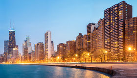 Het Panorama de V.S. van Chicago Stock Fotografie
