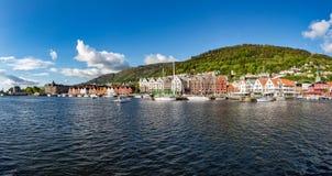 Het panorama Noorwegen van Bergen Stock Afbeelding