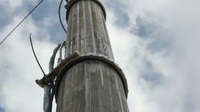 Het panorama over brede toren voor vergroot cellulaire mededeling stock footage