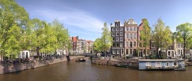 Het Panorama van Amsterdam Stock Afbeelding