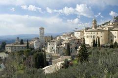 Het panorama van Assisi Stock Afbeelding