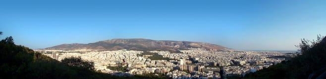 Het panorama van Athene Stock Afbeelding