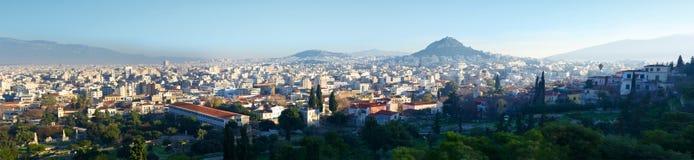 Het Panorama van Athene Stock Foto's