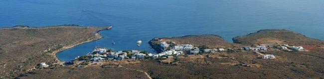 Het panorama van Avlemonas, Kythera, Griekenland royalty-vrije stock afbeeldingen