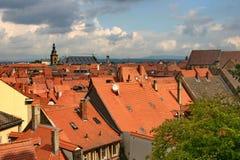 Het panorama van Bamberg. Stock Foto