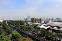Het panorama van Bangkok, Thailand Stock Afbeeldingen