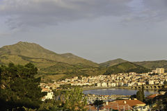 Het Panorama van Banyuls royalty-vrije stock foto