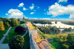 Het panorama van Belgrado Stock Foto's