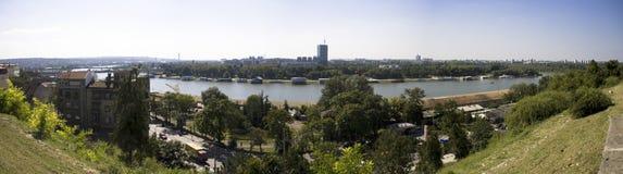 Het Panorama van Belgrado - Servië royalty-vrije stock afbeelding
