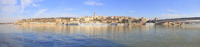 Het panorama van Belgrado Servië Stock Foto's