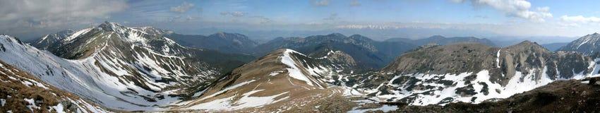 Het panorama van bergen Stock Fotografie