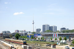 Het panorama van Berlijn Royalty-vrije Stock Foto's