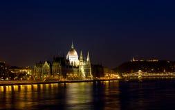 Het panorama van Boedapest Stock Foto's