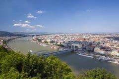 Het panorama van Boedapest Stock Afbeeldingen