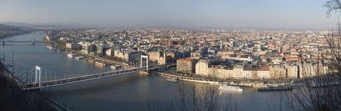 Het panorama van Boedapest Stock Foto