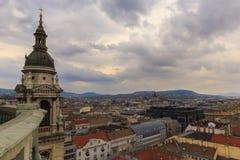 Het panorama van Boedapest Mening van St Stephen Basiliek royalty-vrije stock foto's
